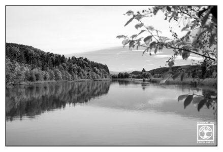 lake blackandwhite, river blackandwhite, Isar blackandwhite