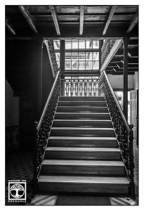 black and white staircase, black and white stairs, santa cruz de la palma, la palma