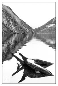 black and white lake, lake reflections, Königssee, bavaria lake, Germany, vanishing point photography, perspective photography