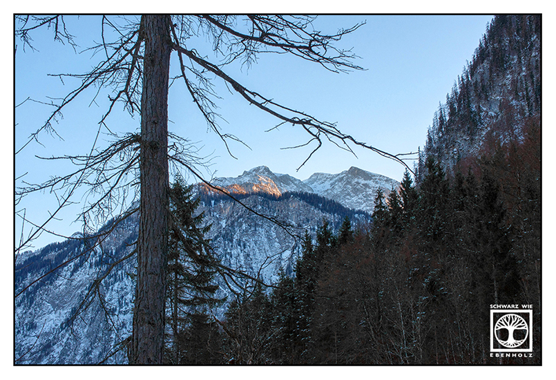 Berge Winter, Alpen Winter, Königssee
